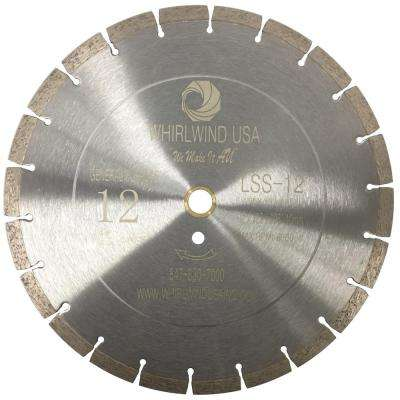 12 in. 20-Teeth Segmented Diamond Blade for Dry or Wet Cutting Concrete, Stone, Brick and Masonry