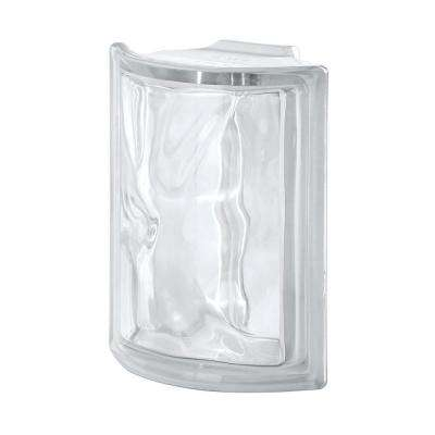 Pegasus Neutro Q19 5.98 in. x 7.48 in. x 3.15 in. Wavy Pattern Corner Glass Block