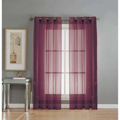 Awesome Diamond Sheer Voile Grommet Extra Wide Curtain Panel, 56 In. W