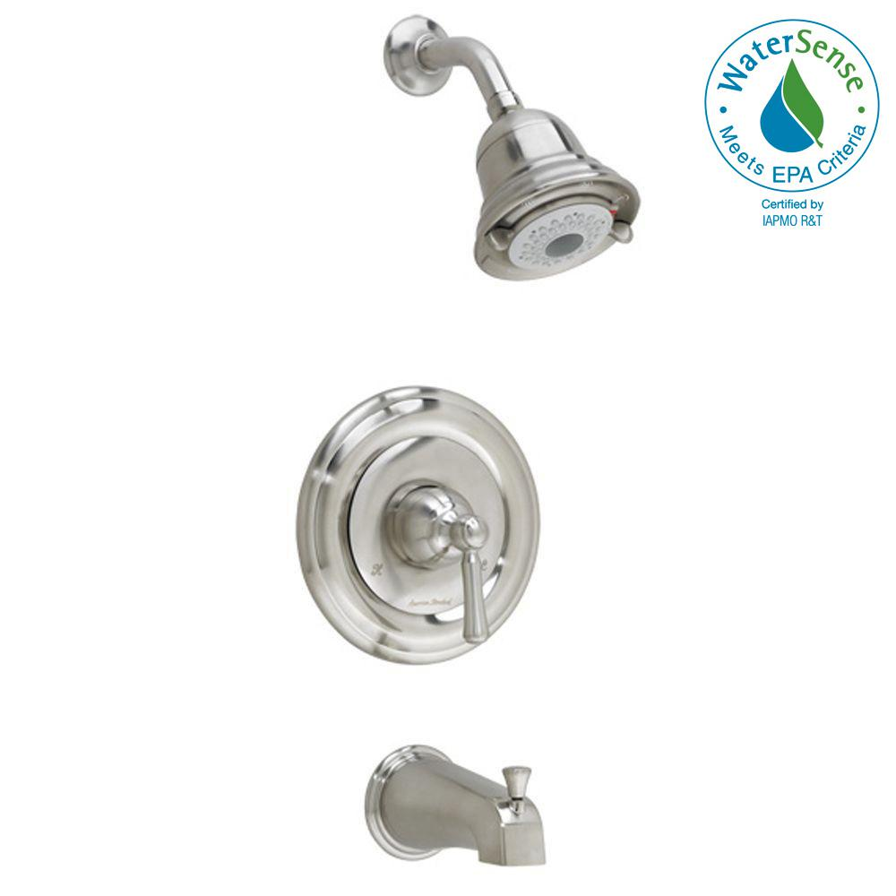 Portsmouth 1-Handle Tub and Shower Faucet Trim Kit in Brushed Nickel