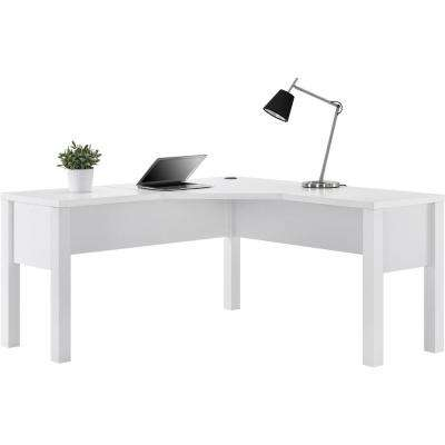 Marston White L-Shaped Desk