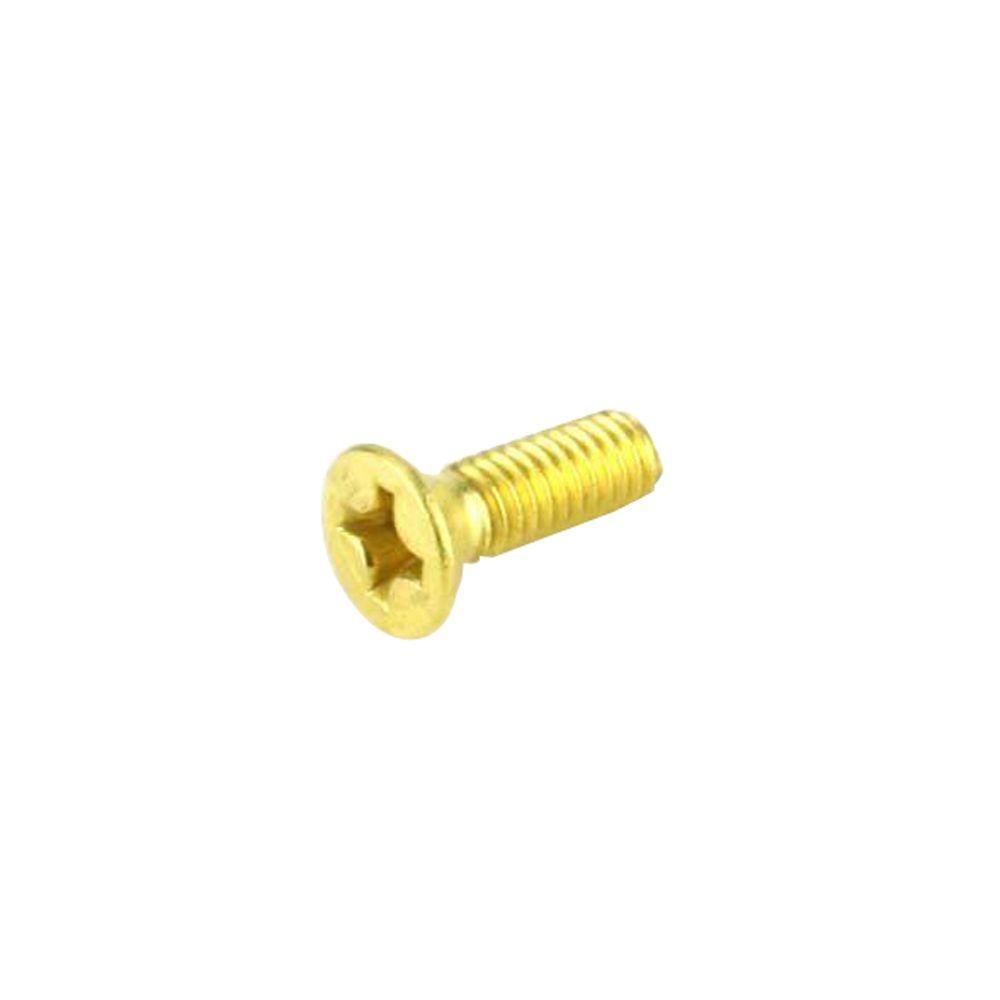 Flat Slot Drive #10 X 1-1//4 Brass Wood Screws 15 pcs