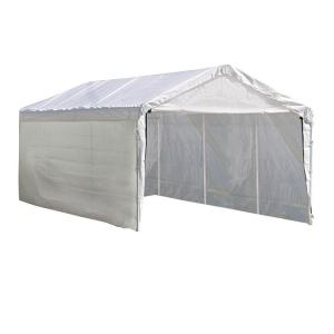 ShelterLogic Super Max 10 ft. x 20 ft. 2-in-1 White Heavy Duty Canopy with Enclosure Kit by ShelterLogic