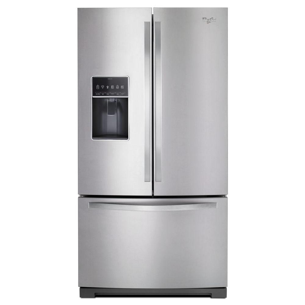 Whirlpool 36 In W 268 Cu Ft French Door Refrigerator In