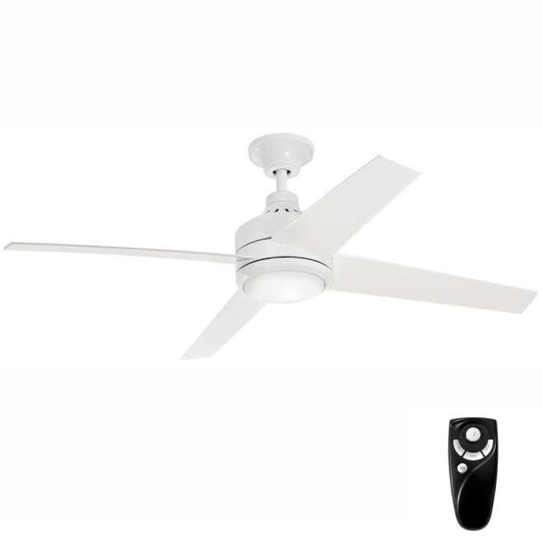 Mercer 56 in. Integrated LED Indoor White Ceiling Fan with Light Kit and Remote Control