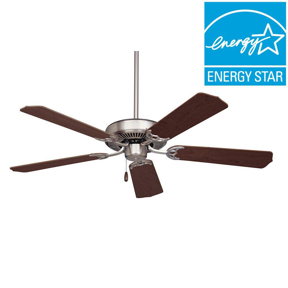 Illumine Zephyr 54 in. Indoor Brushed Steel Ceiling Fan