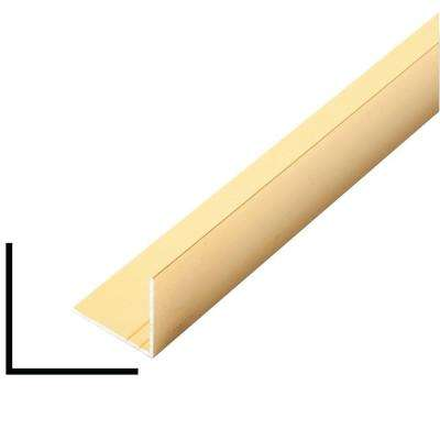 1 in. x 1 in. x 96 in. Metal Mira Gold Outside Corner Moulding