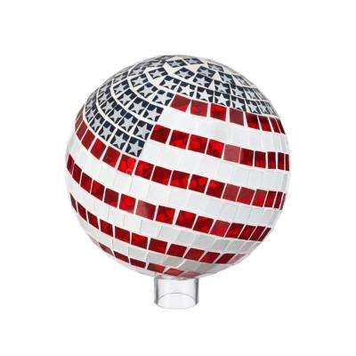 10 in. Patriotic Mosaic Gazing Ball