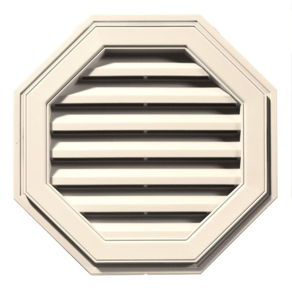 22 in. Octagon Gable Vent in Sandstone Beige