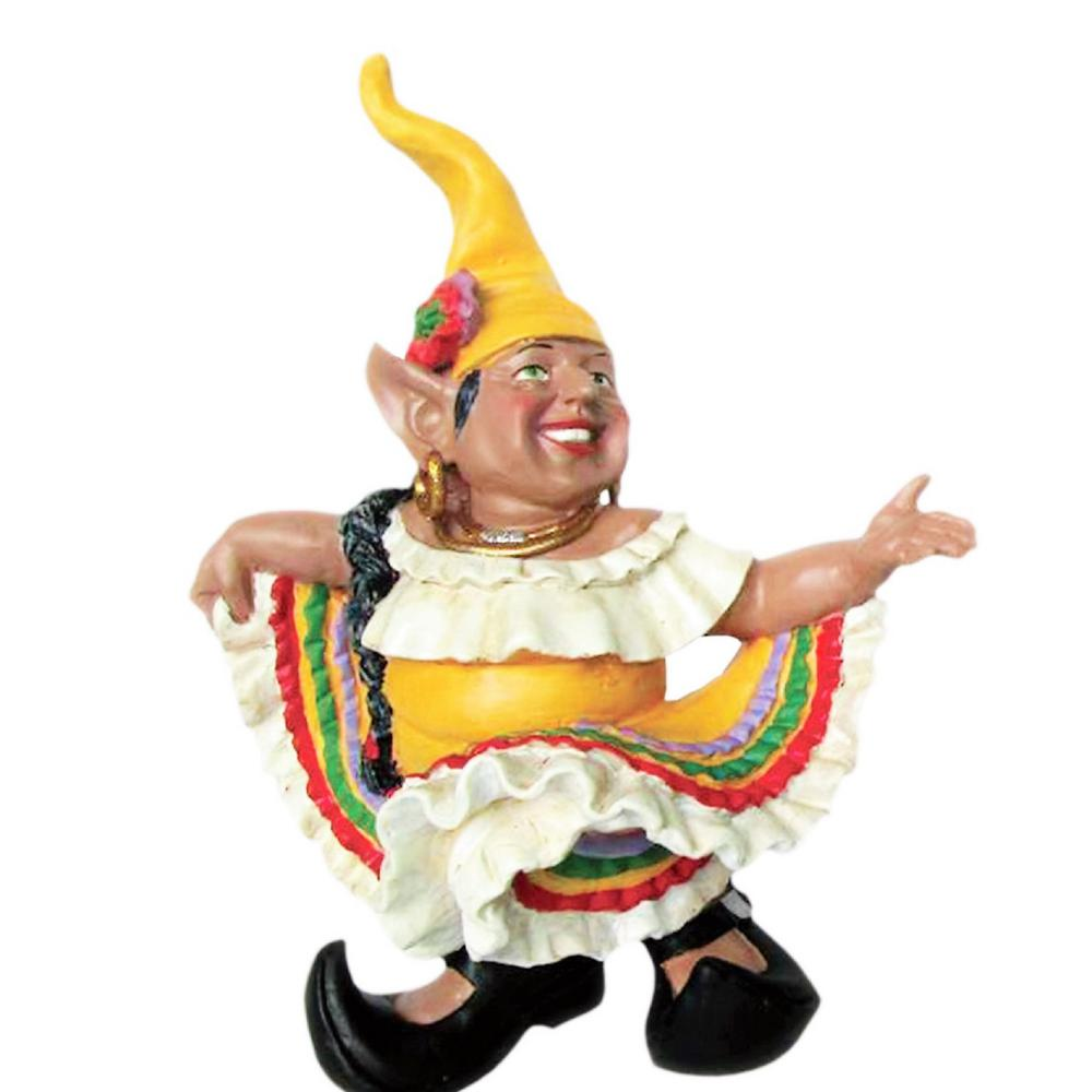 H La Fiesta Mexican Hat Dancer Latin Gnome Dancing In Dress Home