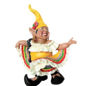 Charmant H La Fiesta Mexican Hat Dancer Latin Gnome Dancing In Dress Home And Garden  Gnome Statue 32520   The Home Depot