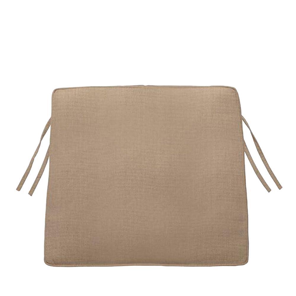 Home Decorators Collection Sunbrella Heather Beige Trapezoid Outdoor Seat Cushion