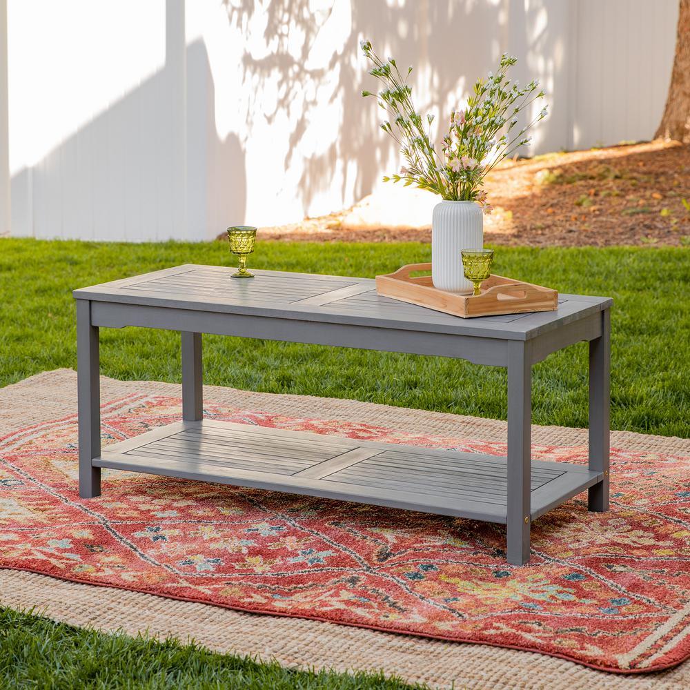 Boardwalk Grey Wash Acacia Wood Outdoor Coffee Table