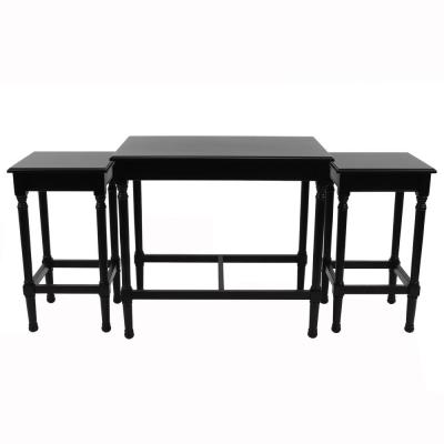 Miranda Black Nesting Tables (Set of 3)
