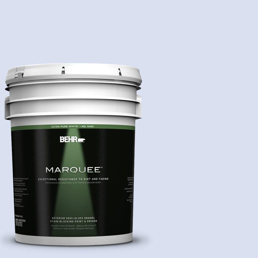 BEHR MARQUEE 5-gal. #PPL-23 Blooming Aster Semi-Gloss Enamel Exterior Paint