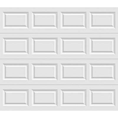 Classic Collection 9 ft. x 7 ft. Non-Insulated Solid White Garage Door