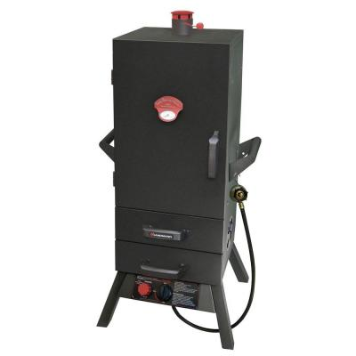 34 in. Vertical Propane Gas Smoker with 2 Drawer Access