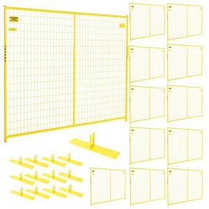 Perimeter Patrol 6 ft. x 87 ft. 12-Panel Yellow Powder-Coated Welded Wire Temporary Fencing by Perimeter Patrol