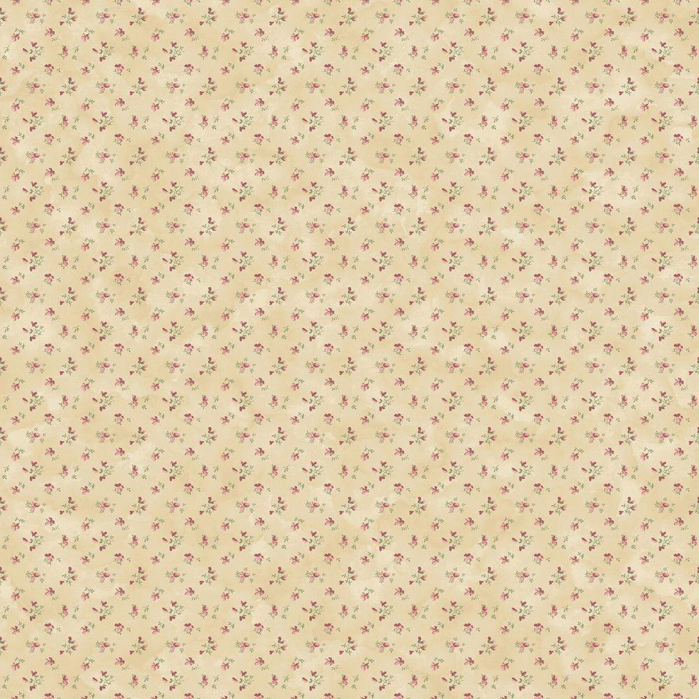 The Wallpaper Company 56 sq. ft. Jewel Tone Cottage Floral Wallpaper-DISCONTINUED