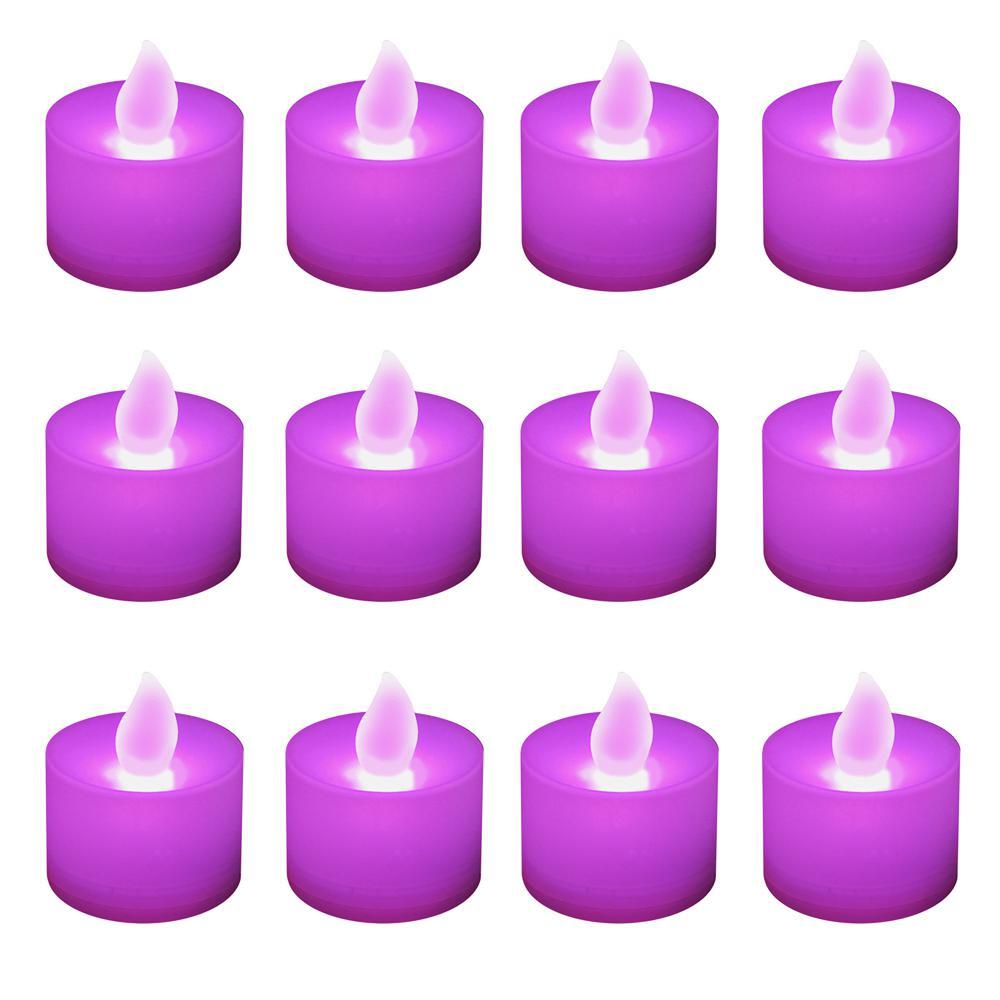 Lumabase Purple Led Tealights Box Of 12