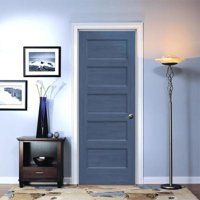 30 in. x 80 in. Conmore Denim Stain Smooth Solid Core Molded Composite Single Prehung Interior Door