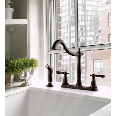 Double Handle Standard Kitchen Faucets Kitchen Faucets The Home Depot