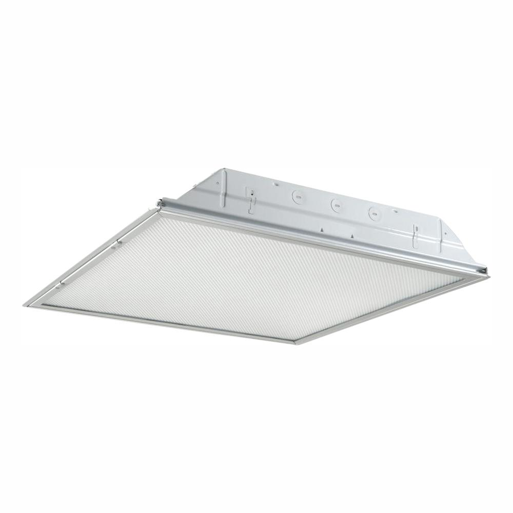 Metalux 2 Ft X 2 Ft White Integrated Led Drop Ceiling Troffer Light With 2400 Lumens 4000k