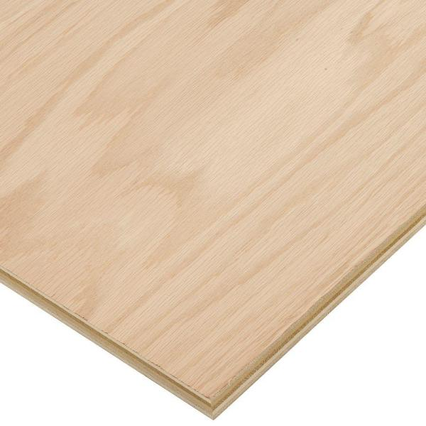 3/4 in. x 2 ft. x 4 ft. PureBond Red Oak Plywood Project Panel (Free Custom Cut Available)