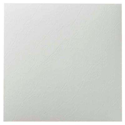 Nexus White 12 in. x 12 in. Peel and Stick Solid Vinyl Tile (20 sq. ft./case)
