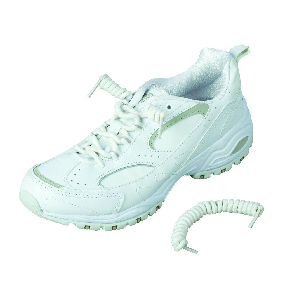 HealthSmart Coiler Shoe Laces in White
