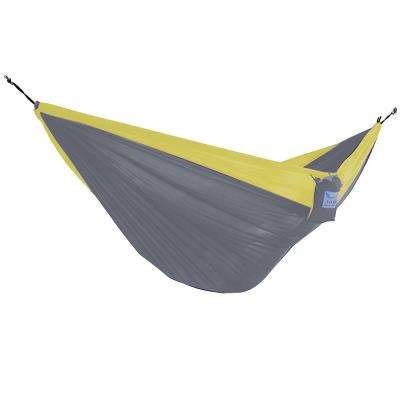 Vivere 10 ft. Parachute Double Hammock in Grey/ Yellow