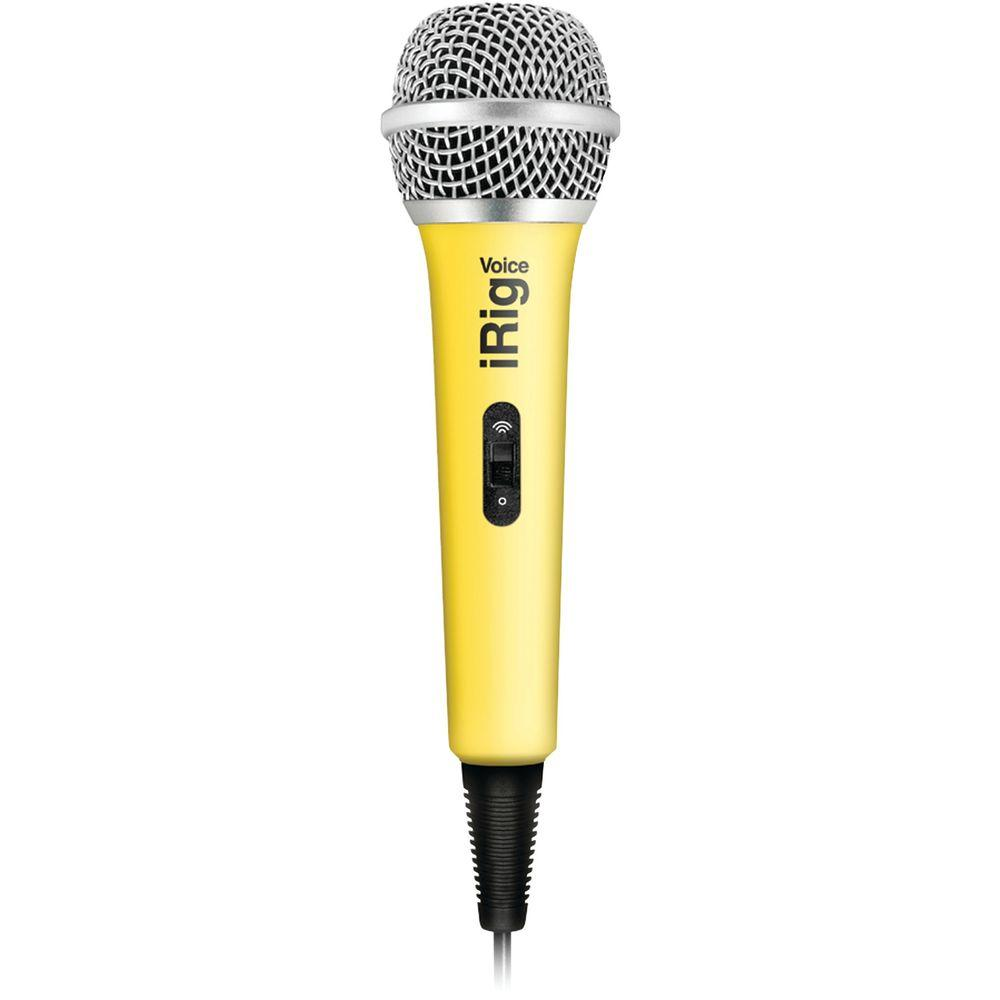 voice karaoke microphone yellow ip irig micvoy in the home depot. Black Bedroom Furniture Sets. Home Design Ideas