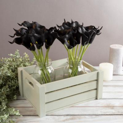 Black Artificial Calla-Lily Flowers with Stems (24-Pack)