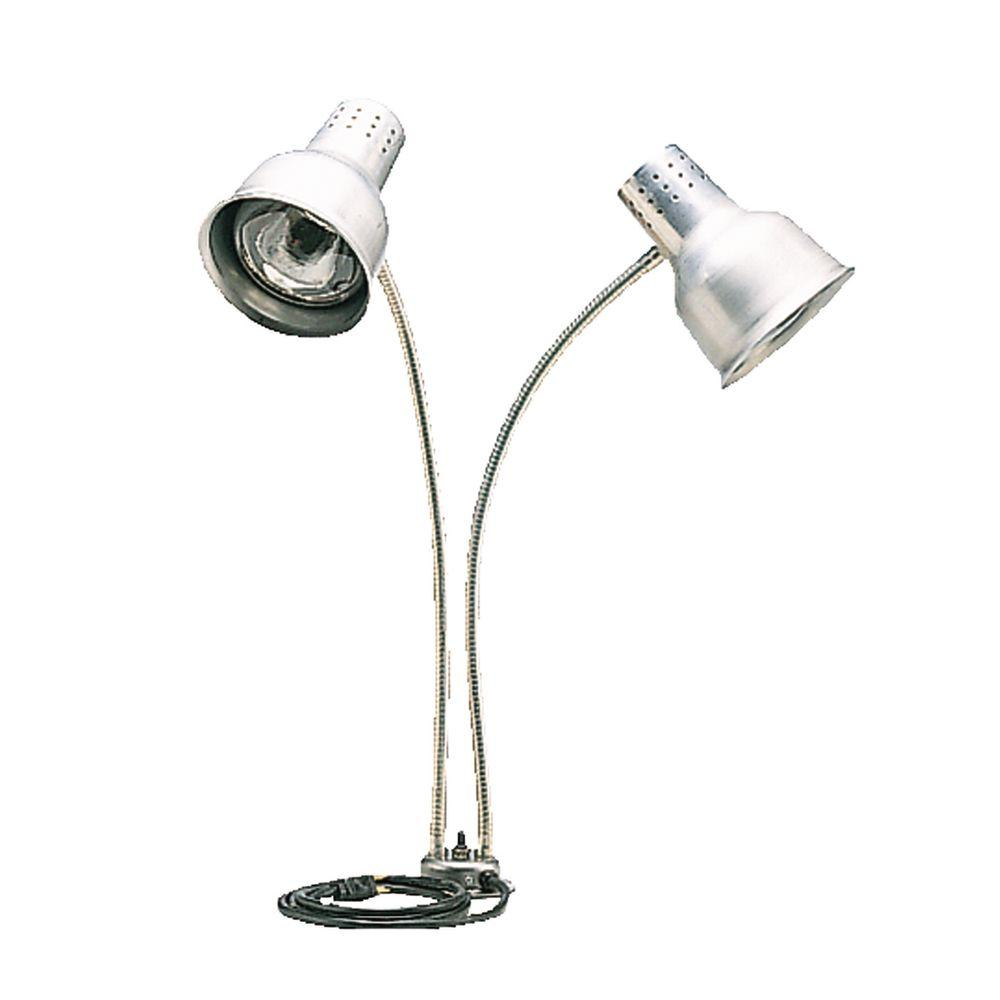 Carlisle Flexiglow 24 in. Heat Lamp Dual Arm with Single Base Aluminum