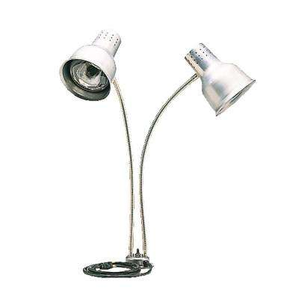 Flexiglow 24 in. Heat Lamp Dual Arm with Single Base Aluminum