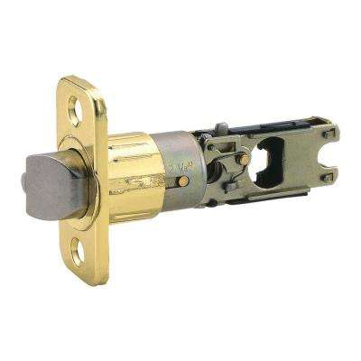 Universal Polished Brass 6-Way Replacement Entry Latch