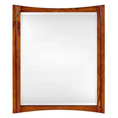 Zen 34 in. x 28 in. Framed Mirror in Oak-DISCONTINUED