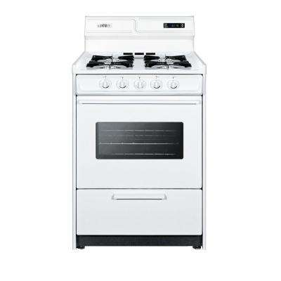 24 in. 2.9 cu. ft. Gas Range in White