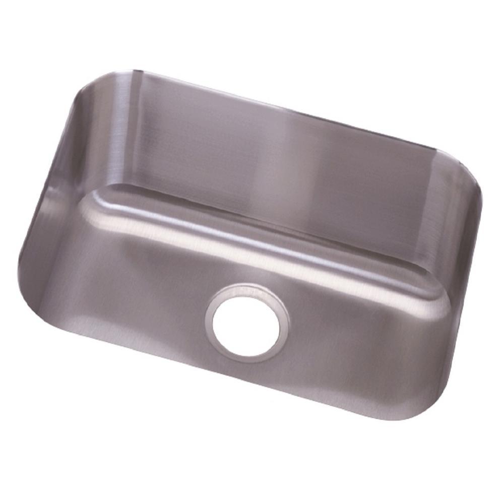 Dayton Undermount Stainless Steel 24 in. Single Bowl Kitchen Sink