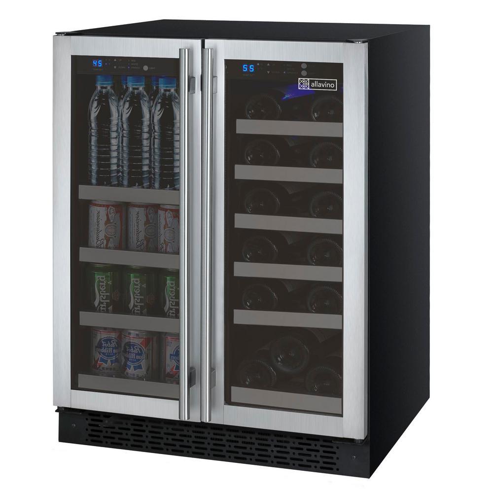 Allavino Flexcount Series Dual Zone Wine Refrigerator And