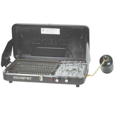 Propane Stove and Grill Combo with Piezo Igniter