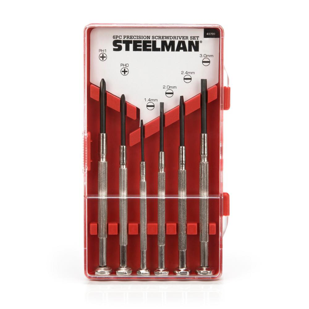 Precision Phillips and Slotted Screwdriver Set (6-Piece)