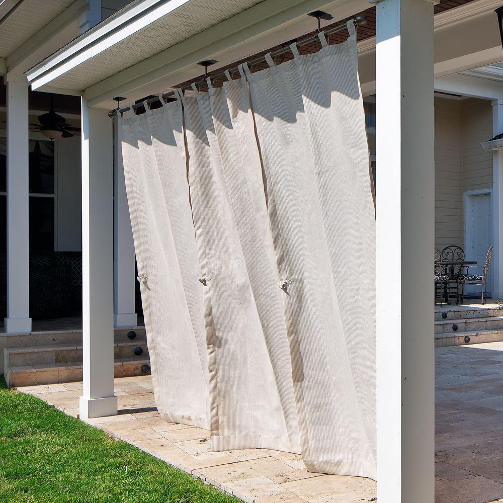 Coolaroo Sheer Pebble Exterior Tab Top Shear Curtain-DISCONTINUED