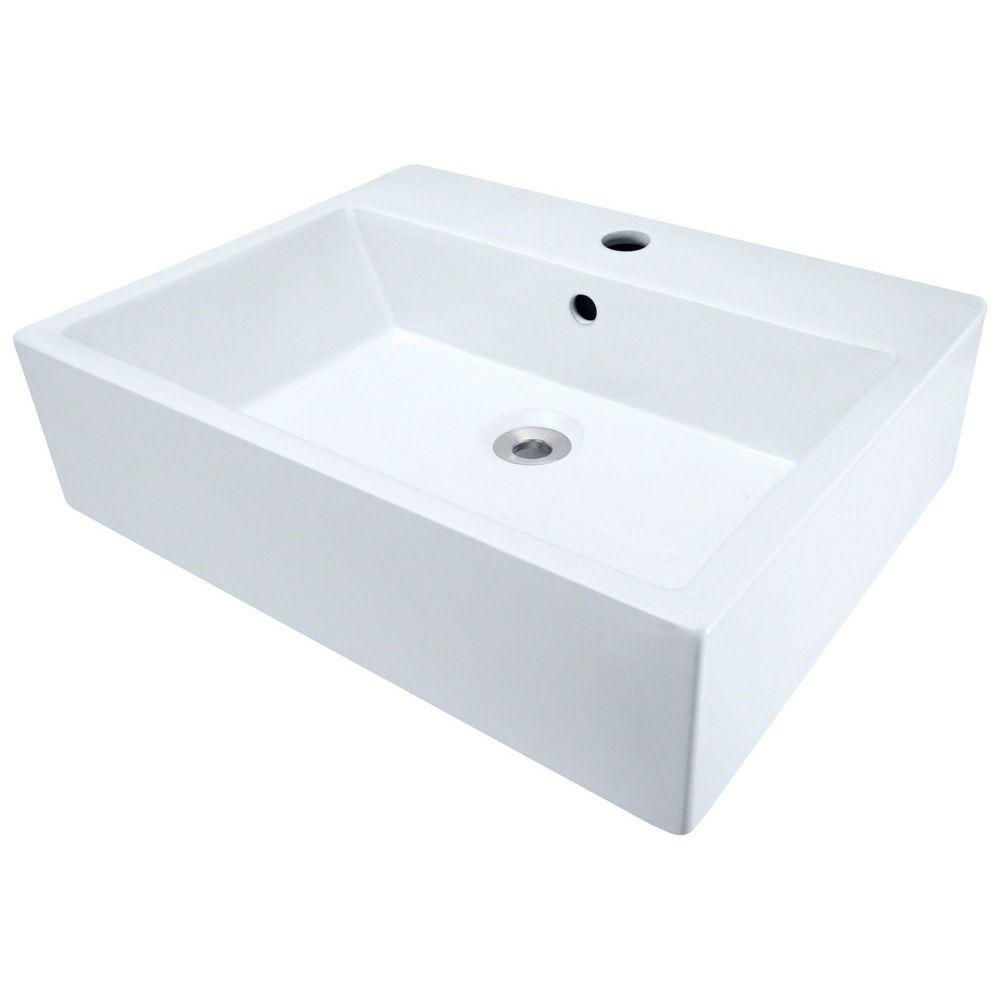 Polaris Sinks Porcelain Vessel Sink In White
