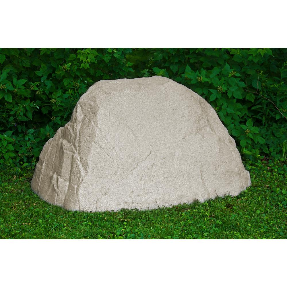 Emsco 40 in. H x 44 in. W x 58 in. L Extra Large Landscape Boulder, Sandstone Resin