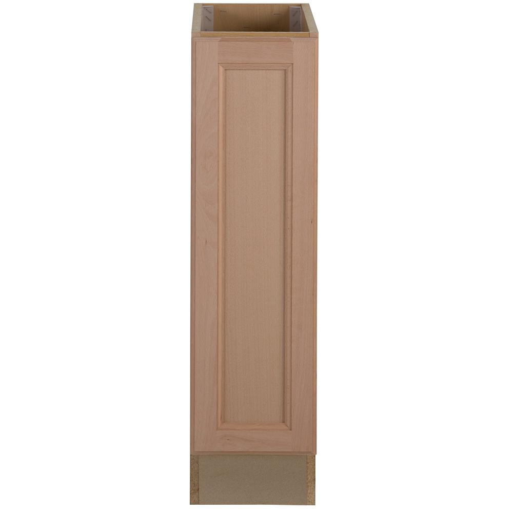 Easthaven Assembled 9x34.5x24 in. Frameless Base Cabinet in Unfinished  German Beech
