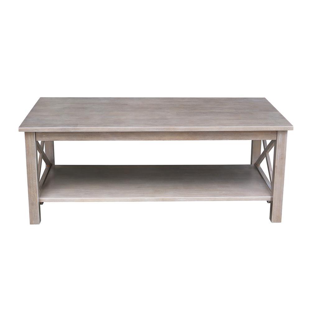 Hampton Weathered Taupe Gray Coffee Table