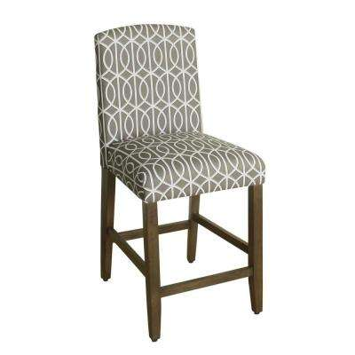 Upholstered 24 in. Seafoan Green Bar Stool