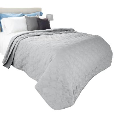 Classic Silver Polyester King Quilt