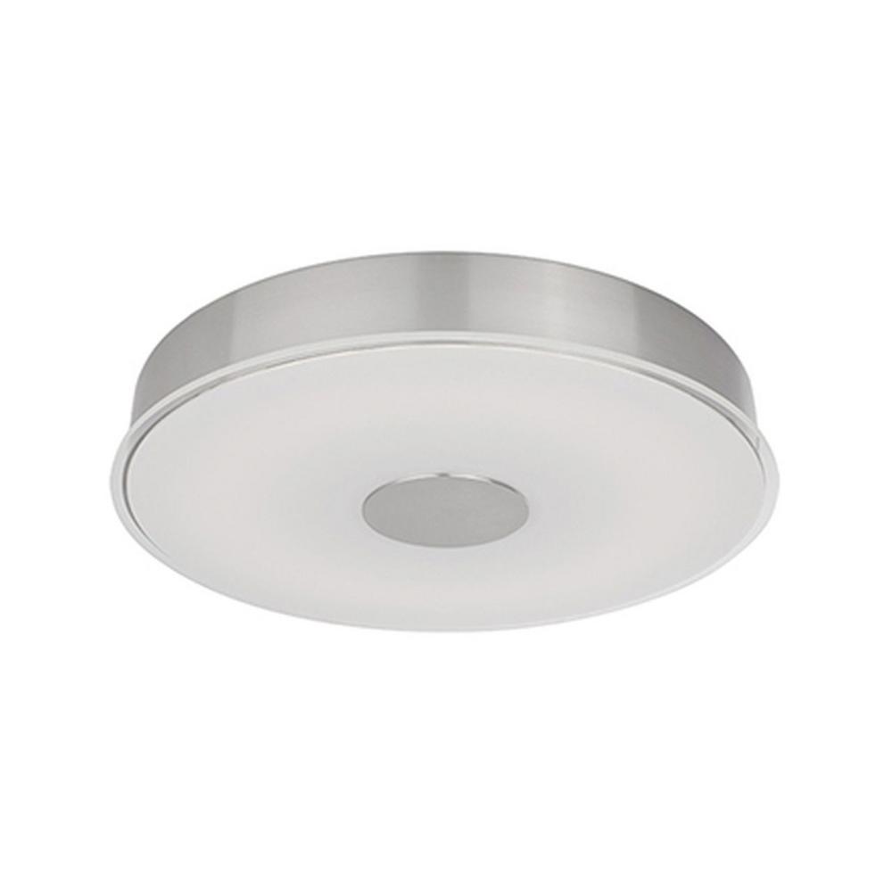 Radionic Hi Tech Mariah 60-Watt Equivalence Brushed Nickel Integrated LED Ceiling Flush Mount